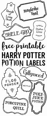 Potion Printable Potter Harry Labels Potions Label Polyjuice Halloween Printables Bottle Spells Party Paper Adult Christmas Papertraildesign Tree Hogwarts Ornaments sketch template