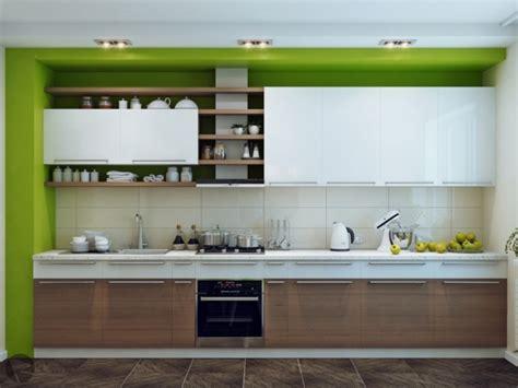 cuisine vert pomme cuisine blanche et bois le mariage parfait pour une