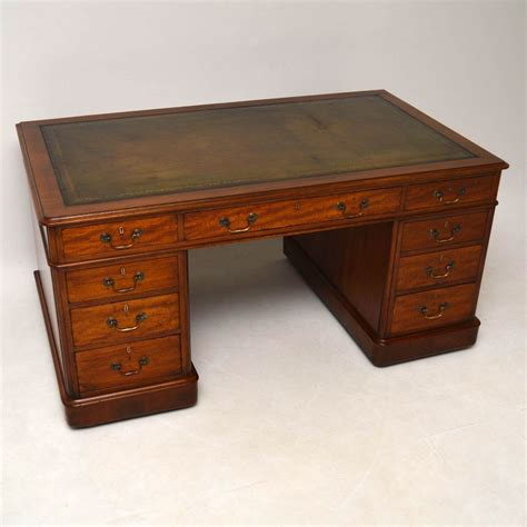 vintage mahogany desk large antique mahogany pedestal desk la63476 3242