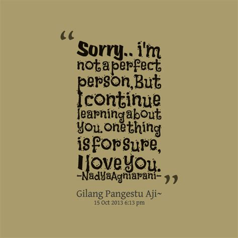 Sorry Im Not Perfect Quotes