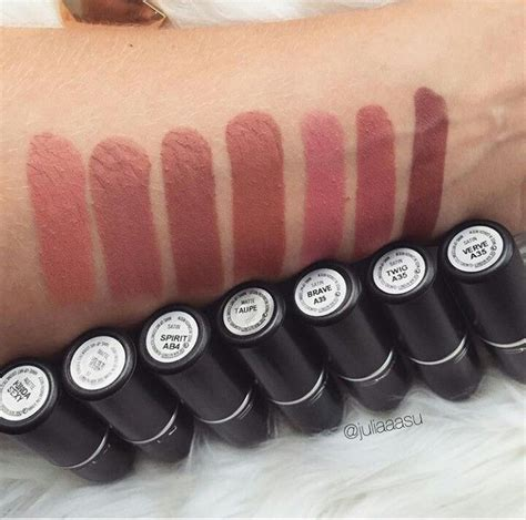 maccosmetics  mac lipstick swatches mac makeup lip colors