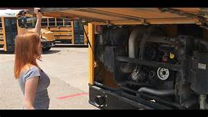 Pre-trip Engine Components On Rear Engine School Bus