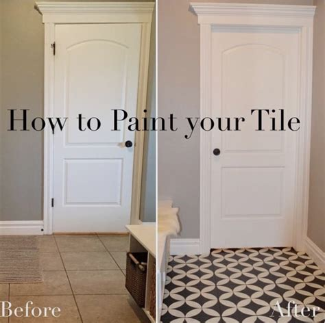 how to paint ceramic tiles painted tile floor six