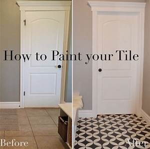 The girl who painted her tile what painted tiles for How to paint ceramic tile floor in bathroom
