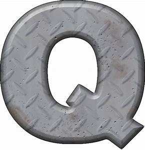 presentation alphabets diamond plate letter q With diamond plate letters