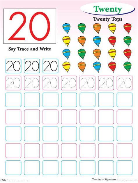 numbers writing practice worksheet 20 free