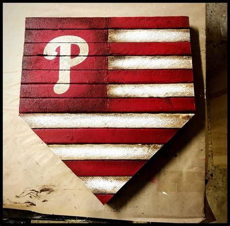philadelphia phillies home plate sign phillies flag