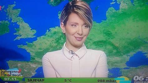 Lapsus prelepe voditeljke vremenske prognoze (Jutarnji ...