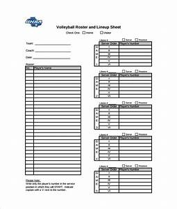 sports team roster template - sample volleyball roster template 6 free documents