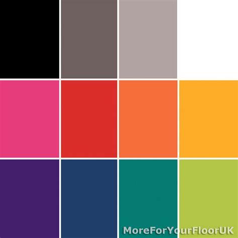 shades plain coloured vinyl flooring bright colours
