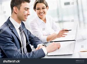 Young Business People Working Together Office Stock Photo ...