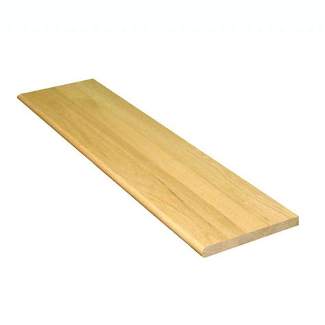 oak stair treads home depot stairtek 1 in x 11 5 in x 36 in unfinished solid builder grade red oak tread btroc1136 the