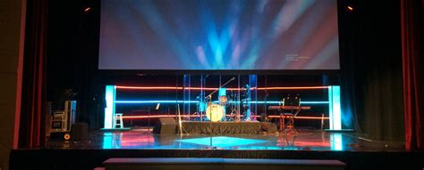 glowing ropes church stage design ideas