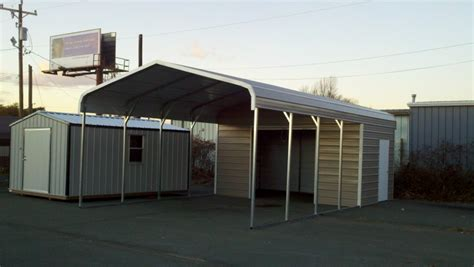 Shed Goldsboro Carolina by Combo Carport The Mullet Hometown Sheds