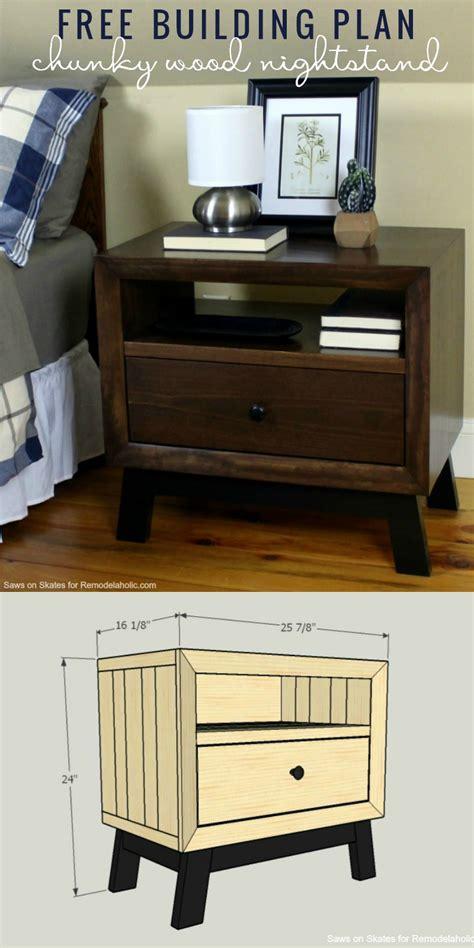 Nightstand Blueprints by Remodelaholic Diy Chunky Solid Wood Nightstand Tutorial