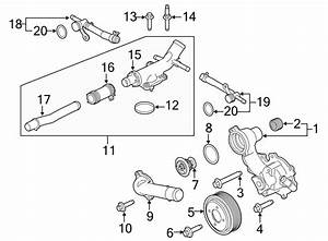 Ford F Super Duty Engine Coolant Thermostat Housing