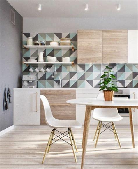 tapisserie de cuisine moderne le papier peint géométrique en 50 photos avec idéеs