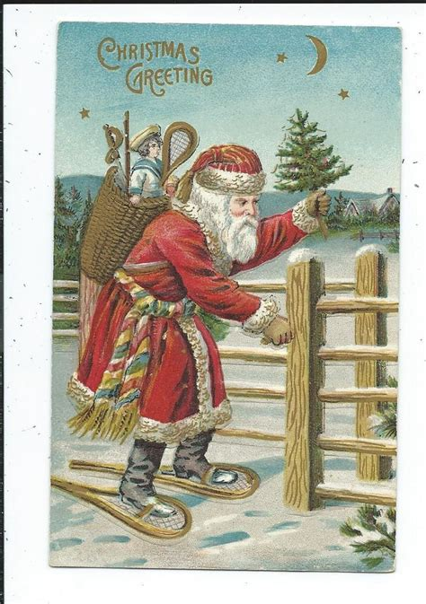 Santa Postcard Giving Toys To From Antique 994 Best Vintage Santa Claus Images On Vintage