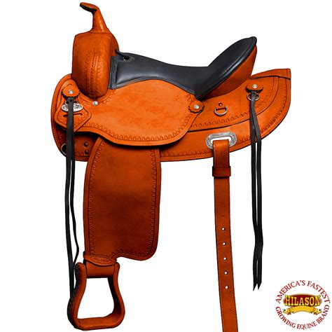 saddle gullet horse western draft wide hilason trail pleasure saddles leather american endurance horses goods rover