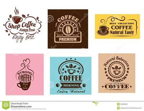 Creative Coffee Label Graphic Designs Stock Vector   Image: 50580250