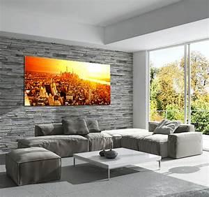 Tableau Salon Moderne : new york sunrise tableau ville ~ Farleysfitness.com Idées de Décoration