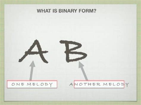 what does binary form mean in music binary and ternary form youtube