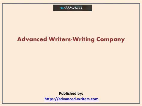 Advanced Writers Writing Companypptx