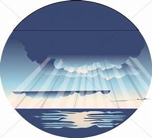 Rays of Light on Ocean Scene