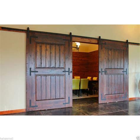 Sliding Closet Door Kit by 6 8 10 16 Ft Sliding Barn Door Hardware Kit Closet
