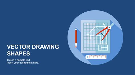 vector drawing shapes  powerpoint slidemodel