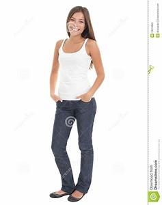 Casual Woman Standing Royalty Free Stock Image - Image ...