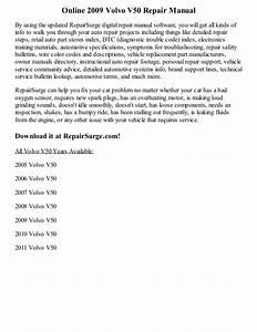 2009 Volvo V50 Repair Manual Online