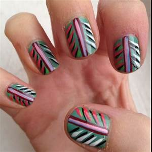 Tribal feather nails nail art design - easy | Manis 2 try ...