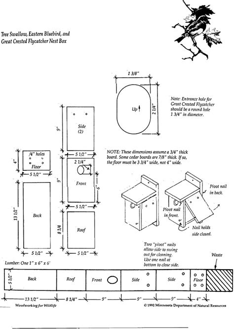 bird house plans barn swallows  woodworking