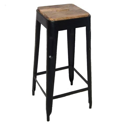 chaise haute exterieur tabouret bar metal et bois design en image