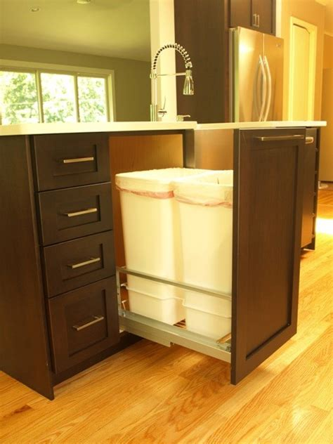 double garbage pullout  full height door