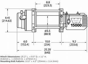 Warn M15000 Heavy Weight Series 15 000 Lbs  Winch 47801
