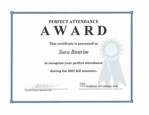Perfect Attendance Certificate Template Template Perfect Attendance Award Template
