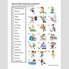 Sports Vocabulary Worksheet  Esl Files