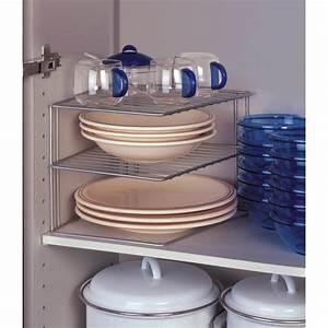Etagere De Rangement Cuisine : etag re d 39 angle de placard metaltex rangement cuisine ac deco ~ Melissatoandfro.com Idées de Décoration
