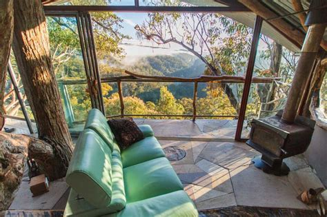 luxury hotel bed linen cabins wollemi wilderness treehouse