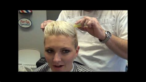 Miley Cyrus Inspired Womans Disconnected Haircut, Barber