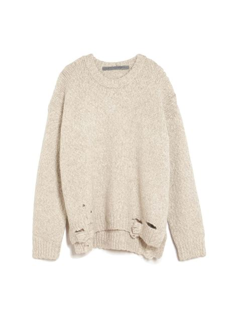 oversized sweater raquel allegra oversized shredded pullover sweater in