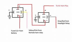4 Pin Relay Wiring Diagram Air Horn