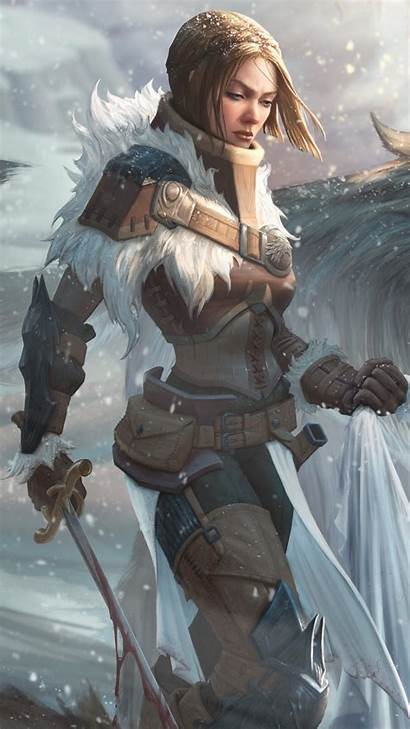 Warrior Fantasy Warriors Mobile Woman Sword Abyss