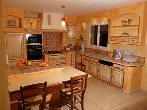 cuisines rustiques et provencales sud ouest cuisines With modele de cuisine provencale moderne