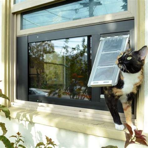 patio pacific thermo sash  window cat door dog door pet pro supply