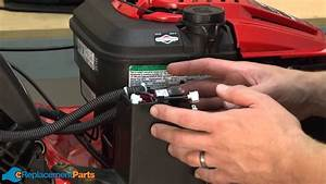 How To Replace The Battery On A Troy-bilt Tb280es Lawn Mower  Part   725-04903