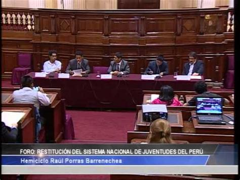 FORUM: RESTITUCIÓN DEL SISTEMA NACIONAL DE JUVENTUDES DEL