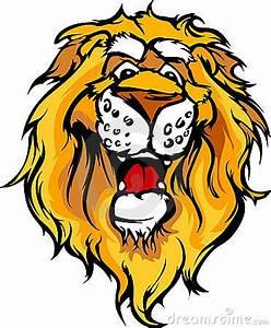 Smiling Cartoon Lion Mascot Graphic Royalty Free Stock ...